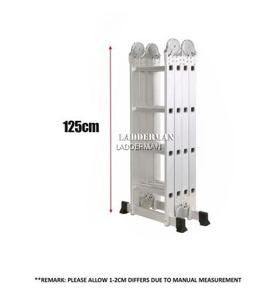 16 STEP MULTIPURPOSE ALUMINIUM LADDER 4.82M
