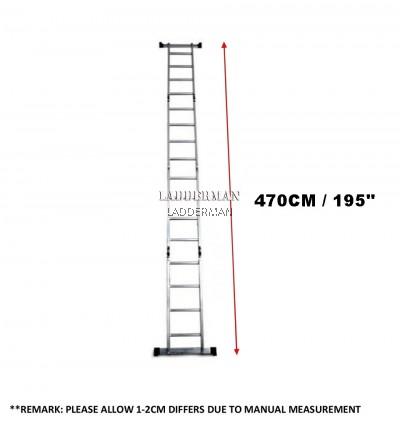 M47 16 STEP ALUMINIUM MULTIPURPOSE LADDER