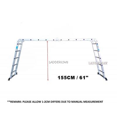 M57 20 STEP ALUMINIUM MULTIPURPOSE LADDER