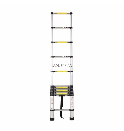HIGH QUALITY ALUMINIUM TELESCOPIC EXTENDABLE LADDER 3.8M WITH 13 STEPS