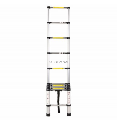 HIGH QUALITY ALUMINIUM TELESCOPIC EXTENDABLE LADDER 3.2M WITH 11 STEPS