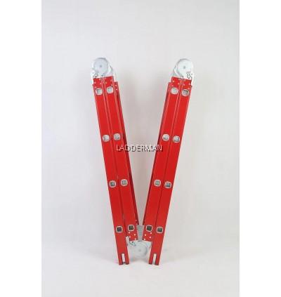 16 STEP RED EDITION MULTIPURPOSE ALUMINIUM LADDER 4.7M