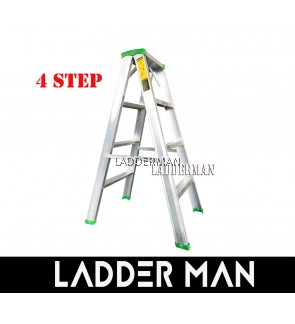 """STRONGMAN DS4 37"""" ALUMINIUM DOUBLE SIDED 4 STEPS LADDER"""
