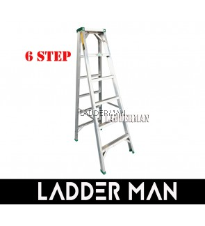"""STRONGMAN DS6 57"""" ALUMINIUM DOUBLE SIDED 6 STEPS LADDER"""
