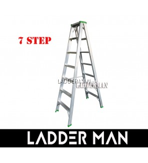 """STRONGMAN DS7 67"""" ALUMINIUM DOUBLE SIDED 7 STEPS LADDER"""