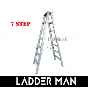 "STRONGMAN DH7 67"" HEAVY DUTY ALUMINIUM DOUBLE SIDED 7 STEPS LADDER"
