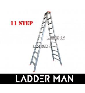 "STRONGMAN DH11 107"" HEAVY DUTY ALUMINIUM DOUBLE SIDED 11 STEPS LADDER"