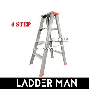"STRONGMAN DH4 37"" HEAVY DUTY ALUMINIUM DOUBLE SIDED 4 STEPS LADDER"
