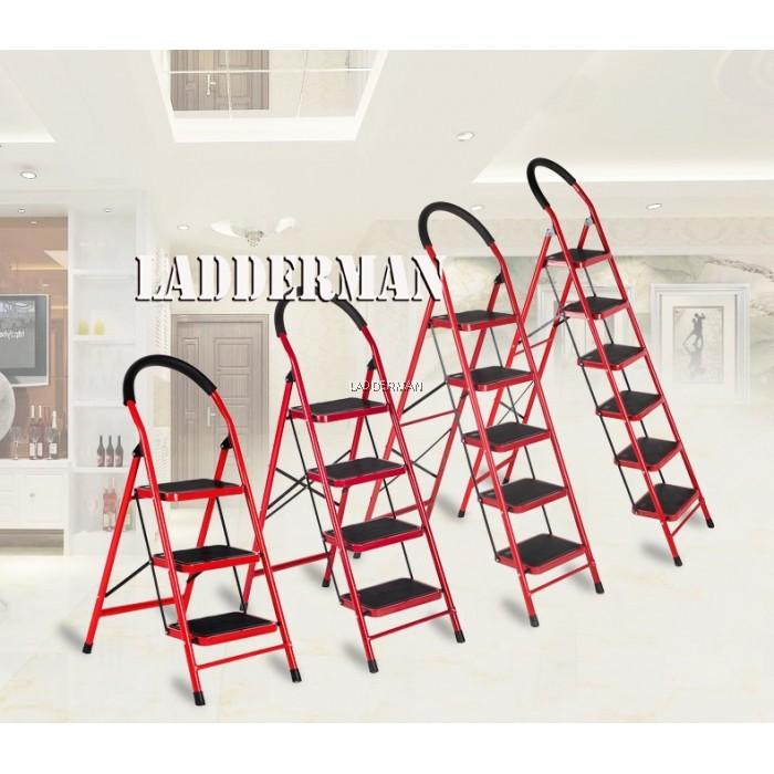 Phenomenal Heavy Duty Foldable 5 Step Stool Ladder With Hand Grip Machost Co Dining Chair Design Ideas Machostcouk