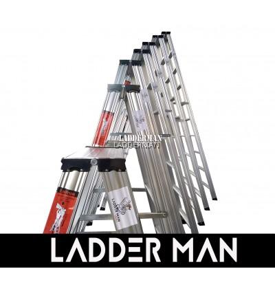 Ladderman Heavy Duty Aluminium Double Sided Ladder (9 STEP)