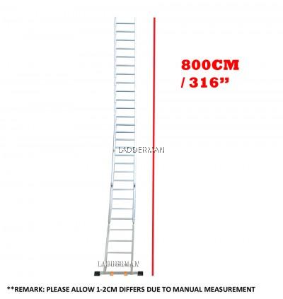28 STEP MULTIPURPOSE ALUMINIUM LADDER 8M