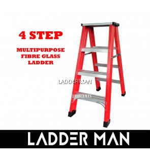 4 Step Fiberglass Double Sided Ladder 1.2M