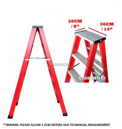 9 Step Fiberglass Double Sided Ladder 2.7M