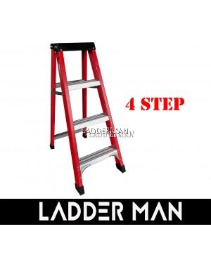 4 STEP FIBERGLASS SINGLE SIDED LADDER