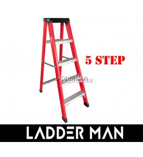 5 STEP FIBERGLASS SINGLE SIDED LADDER