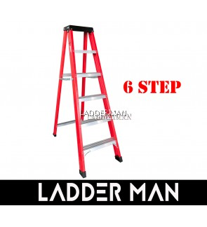 6 STEP FIBERGLASS SINGLE SIDED LADDER