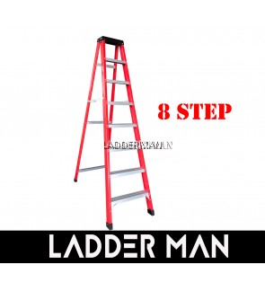 8 STEP FIBERGLASS SINGLE SIDED LADDER