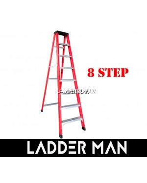 8 STEP FIBERGLASS SINGLE SIDED LADDER