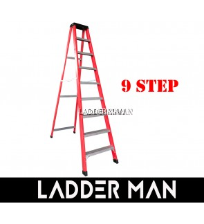9 STEP FIBERGLASS SINGLE SIDED LADDER