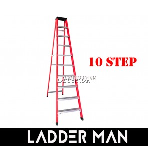 10 STEP FIBERGLASS SINGLE SIDED LADDER