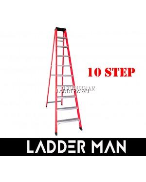 10 STEP FIBERGLASS SINGLE SIDED LADDER