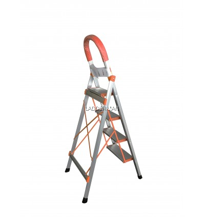 4 STEP HOUSEHOLD ALUMINIUM STEP LADDER WITH HAND GRIP HL004