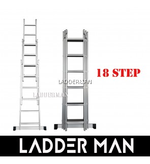 18 STEPS ALUMINIUM TRIPLE EXTENSION LADDER