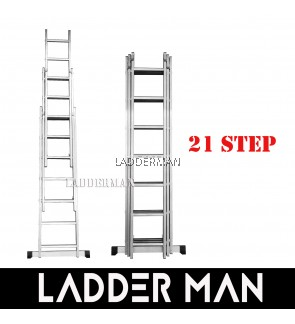 21 STEPS ALUMINIUM TRIPLE EXTENSION LADDER