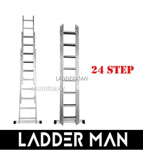 24 STEPS ALUMINIUM TRIPLE EXTENSION LADDER