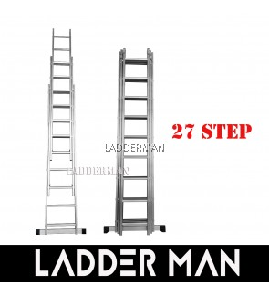 27 STEPS ALUMINIUM TRIPLE EXTENSION LADDER