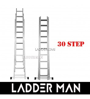 30 STEPS ALUMINIUM TRIPLE EXTENSION LADDER