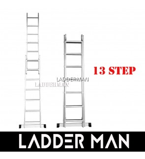 13 STEPS ALUMINIUM DOUBLE EXTENSION LADDER