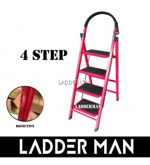4 Step Medium Duty Defective Foldable Steel Ladder With Hand Grip