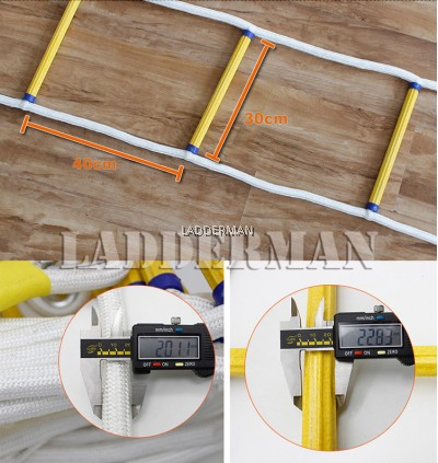 20 Meter Emergency Fire Escape Safety Rescue Rope Ladder