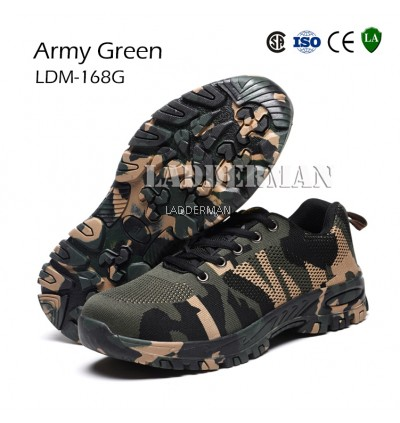 Ladderman Military Series Steel Toe Cap Midsole Low Cut Safety Shoe Safety Boot Camouflage Boots Hiking Shoe