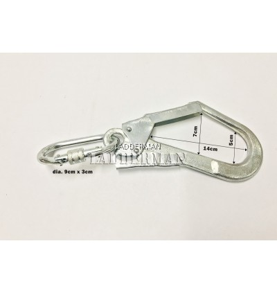 Hook and Carabineer for Emergency Fire Escape Rope Ladder (Pair)