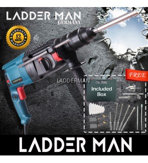 Ladderman GBH 2-26 26mm 1000W 3 Mode Rotary Hammer Drill Free Accessories