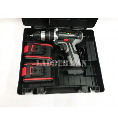 Ladderman LDM-24V2LI Cordless Impact Driver Drill 3 Operation Mode with 2Pcs Batteries Tool Set