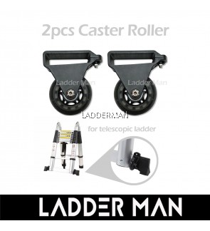 2PCS CASTER ONLY ROLLER FOR TELESCOPIC LADDER WHEELS - 2.5 INCH