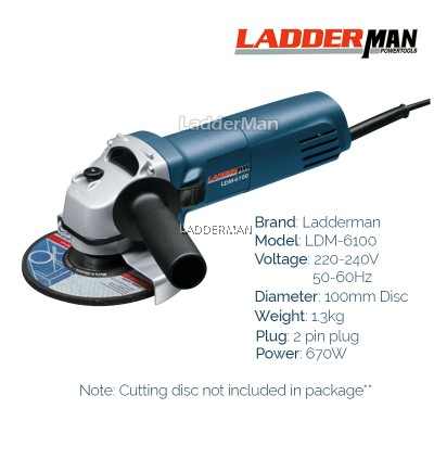 COMBO SET Ladderman LDM-6100 Angle Grinder with Angle Grinder Stand GWS 060