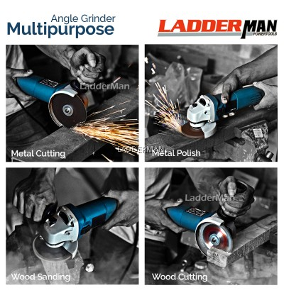 COMBO SET Ladderman LDM-6100 Angle Grinder GWS 060 with Chainsaw Attachment (1C)
