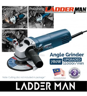 Ladderman GWS 750-100 780W Angle Grinder Power Tools Grinding Machine for Woodworking