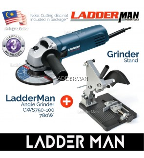 COMBO SET Ladderman GWS750-100 Angle Grinder with Angle Grinder Stand