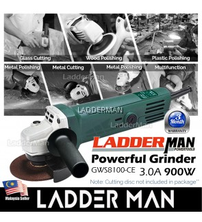 Ladderman GWS 8100-CE 900W Angle Grinder Power Tools Grinding Machine for Woodworking