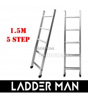 5 Step 1.5M Single Pole Aluminium Straight Ladder