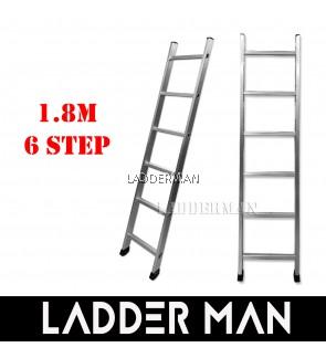 6 Step 1.8M Single Pole Aluminium Straight Ladder