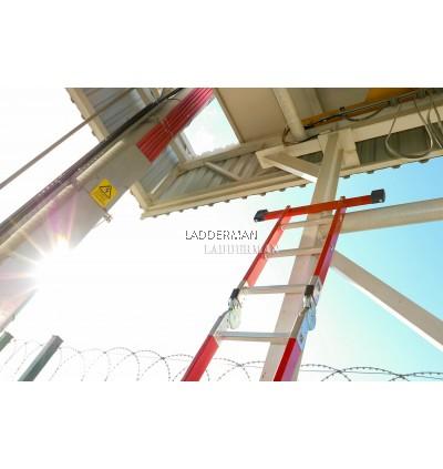 Fiberglass Heavy Duty 20 Step 5.8 Meter Multipurpose Ladder ( FAZ-4X5 )