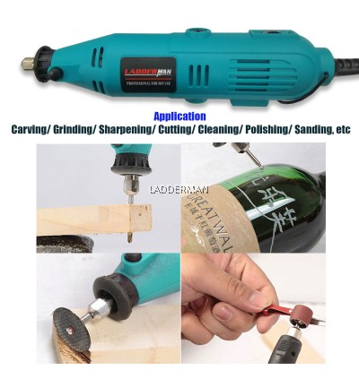 226 pcs Ladderman LDM-SF-226 Electric Mini Drill Grinder Mini Die Grinder Engraving With Polishing Tools Set