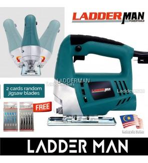 Ladderman LDM-SC055 Electric Jigsaw 45 Degree Adjustable Wood and Metal Cutting Machine Jig Saw with Free 2 Set Blades