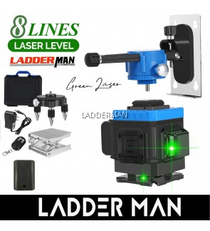 [Package] Ladderman 8 Line Laser Level Green Light Self-Leveling 360° Rotary Cross Auto Measuring Tool Remote Control